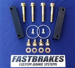 "Fastbrakes 1998-2002 Accord 4 bolt adapter kit  for RL calipers and 12.8"" rotor kit"
